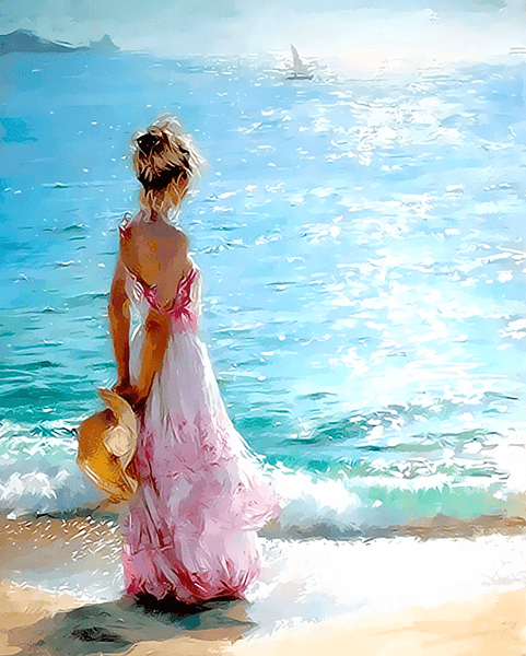 Seaside Girl Paint By Number Kit