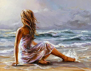 Paint by Numbers Kit Woman on the Ocean