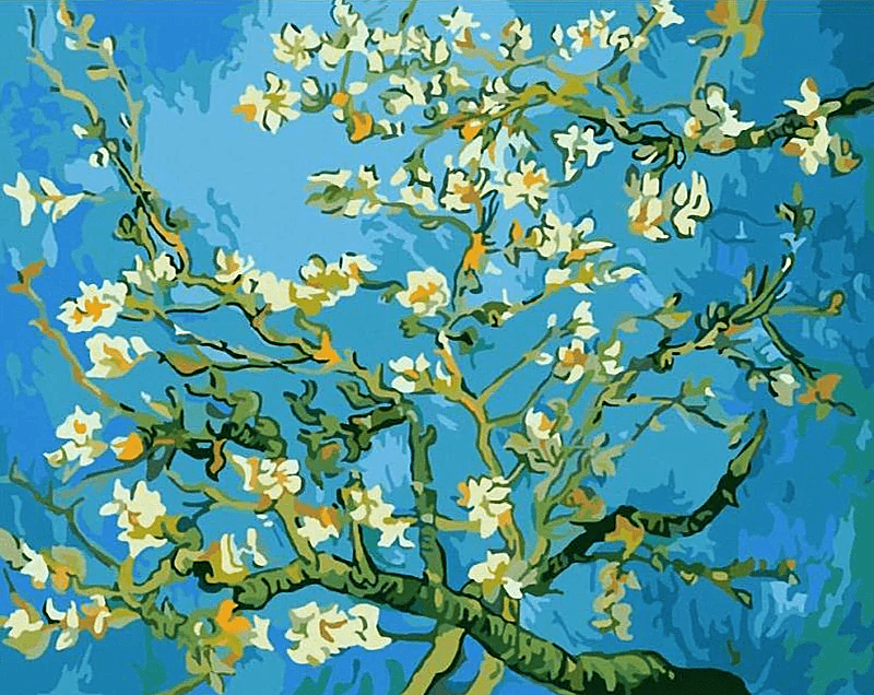Paint by Numbers Kit Van Gogh Flower Apricot - Just Paint by Number