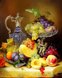 Paint by Numbers Kit Fruit Grapes - Just Paint by Number