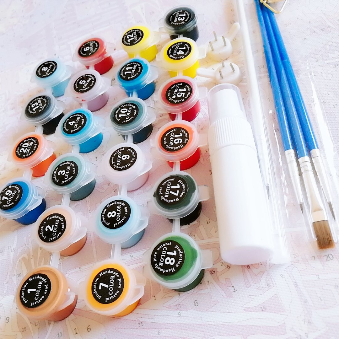 Paint By Number Kit Traveling Girl - Just Paint by Number