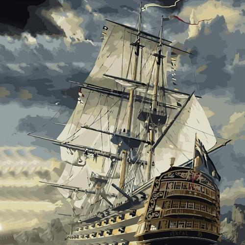 Sailing Ship Paint by Numbers Kit - Just Paint by Number