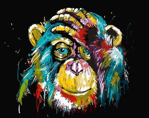 Paint by Numbers Kit Abstract Monkey - Just Paint by Number