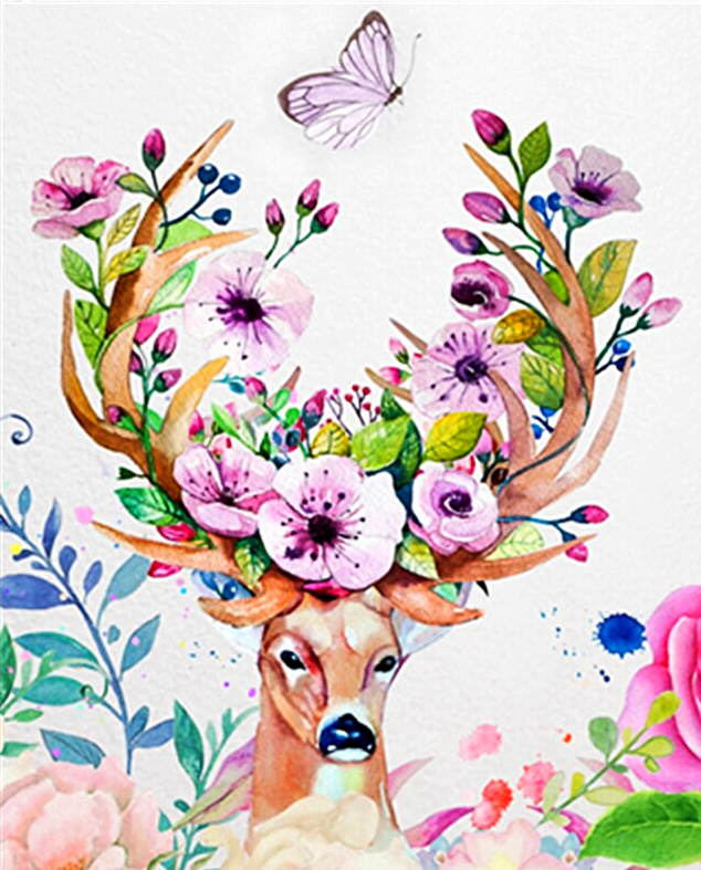 Paint by Numbers Kit Abstract Deer