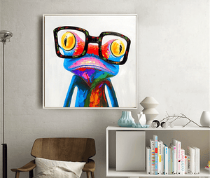Cute Colorful Glasses Frog Painting By Number Kit - Just Paint by Number