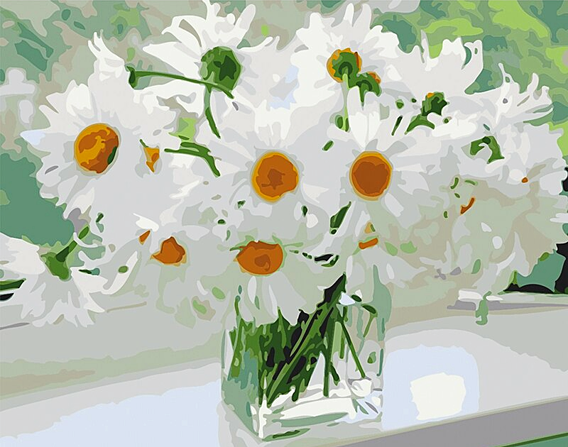 Paint by Numbers Kit Flowers