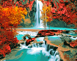 Paint by Numbers Kit Waterfall Landscape