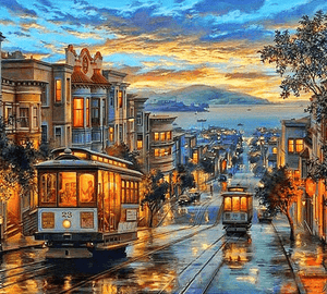 Paint By Numbers Kit Landscape San Francisco - Just Paint by Number