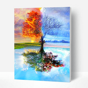 Paint by Numbers Kit Abstract Season Tree