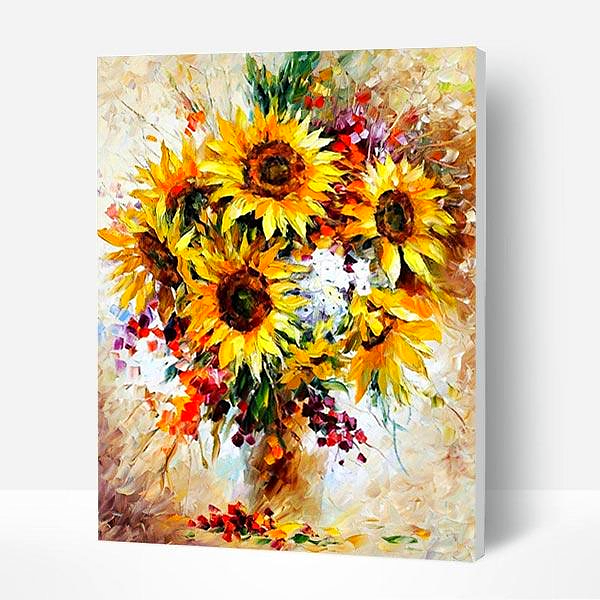 Paint by Numbers Kit Abstract Flowers
