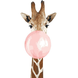 Paint by Numbers Kit Giraffe Bubble