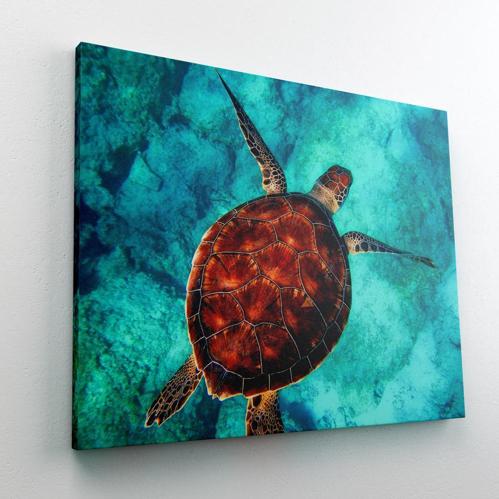 Paint by Numbers Kit Turtle Sea - Just Paint by Number
