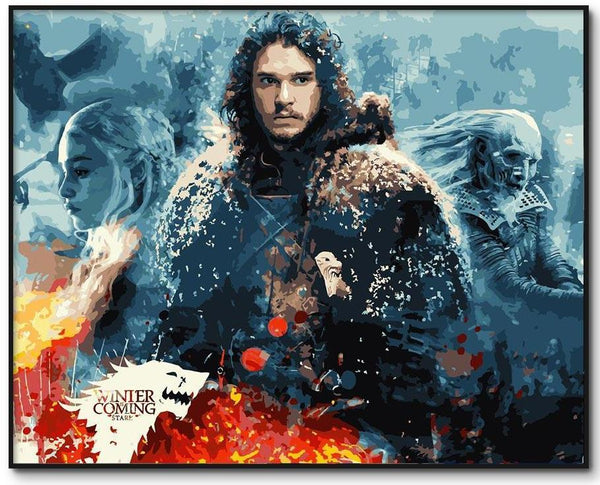 Winter is Coming Game of Thrones Paint by Numbers Kit - Just Paint by Number