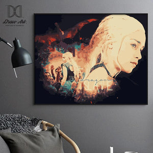 Daenerys Targaryen from Game of Thrones Paint by Numbers Kit - Just Paint by Number