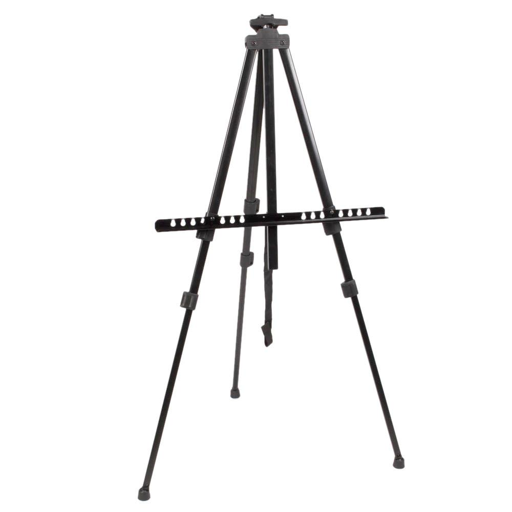 Artist's Iron Folding Easel Light Weight with Black Carry Bag - Just Paint by Number