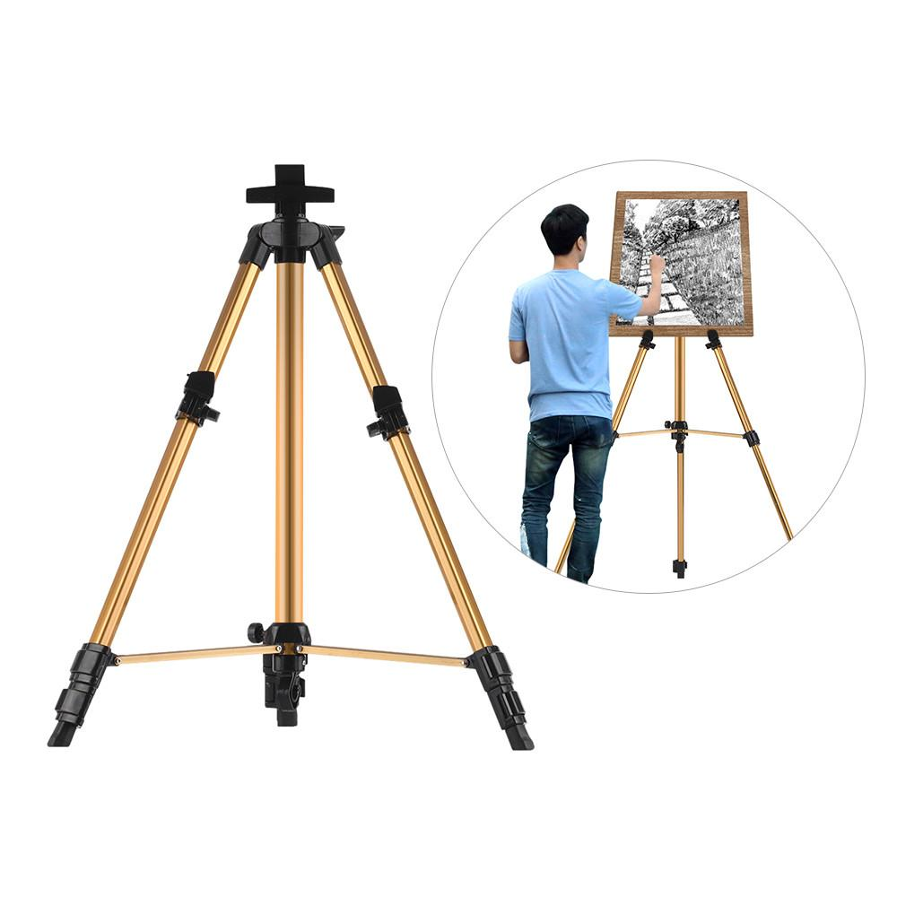 Aluminum Easel Stand Tripod Adjustable Height 19''-55'' Field Easel for Painting with Carrying Bag - Just Paint by Number