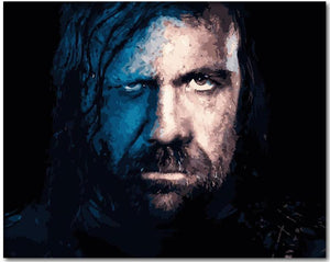 "Sandor ""The Hound"" Clegane from Game of Thrones Paint by Numbers Kit - Just Paint by Number"