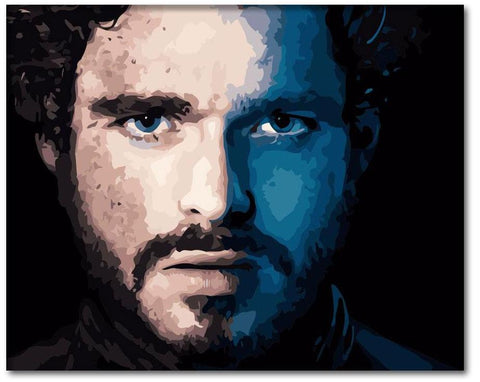 Robb Stark Painting from Game of Thrones Paint by Numbers Kit - Just Paint by Number