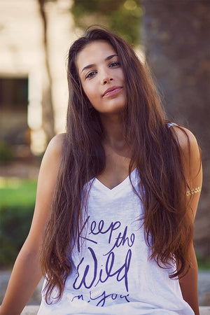 Crossed Back Tank – Keep The Wild In You