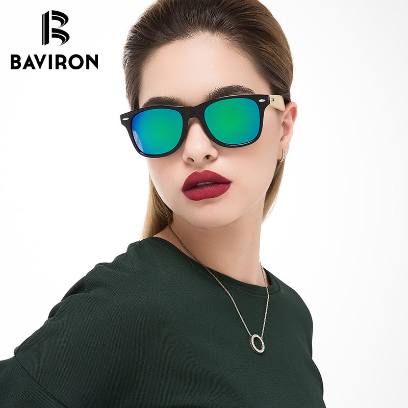 a47e11cfaa BAVIRON Summer Bamboo Sunglasses for Women Man Oversized Vintage Square  Wooden Sun Glasses Retro Women