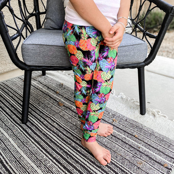 How About Them Pineapples Youth Leggings