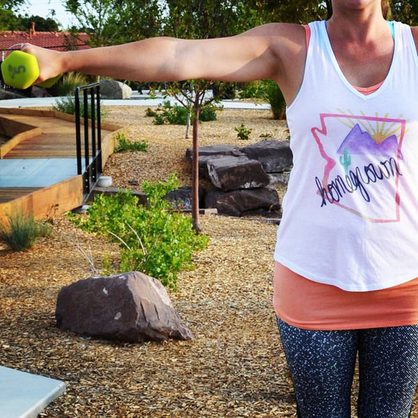 Arizona Homegrown (Pink) V-Neck Tank