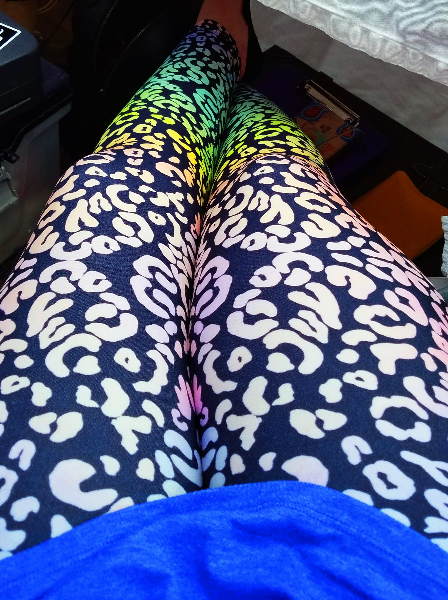 Ode to Lisa Frank Leopard Leggings