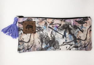 Fantastic Beasts Pencil Pouch with Periwinkle Tassel