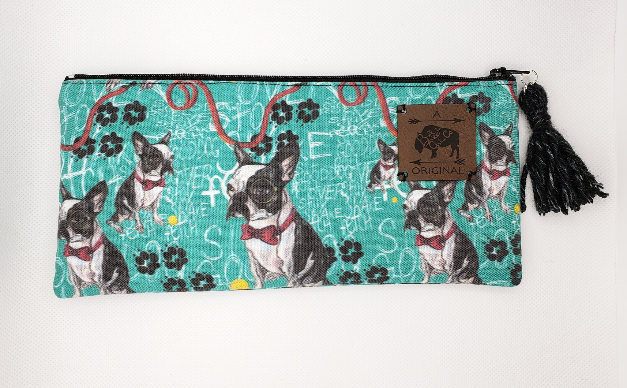 Good Boy, Mr. Pickles Pencil Pouch with Black Tassel