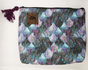 Oh Mer-Gal (OMG) Cosmetic Pouch with Purple Tassel