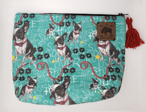 Good Boy, Mr. Pickles Cosmetic Pouch with Red Tassel