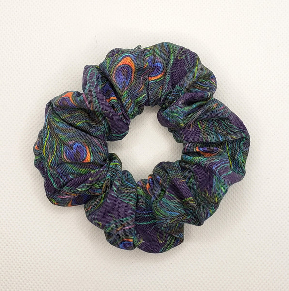 Peacock Feathers Scrunchie