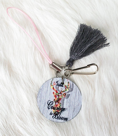 Courage to Bloom Phone Charm