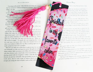 Pink Sprinkled Donut Bookmark