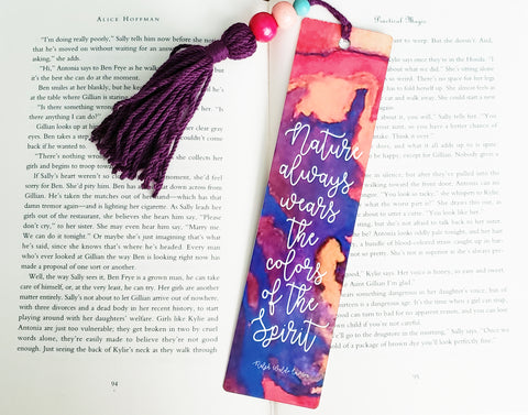 Watercolor Desert Bookmark