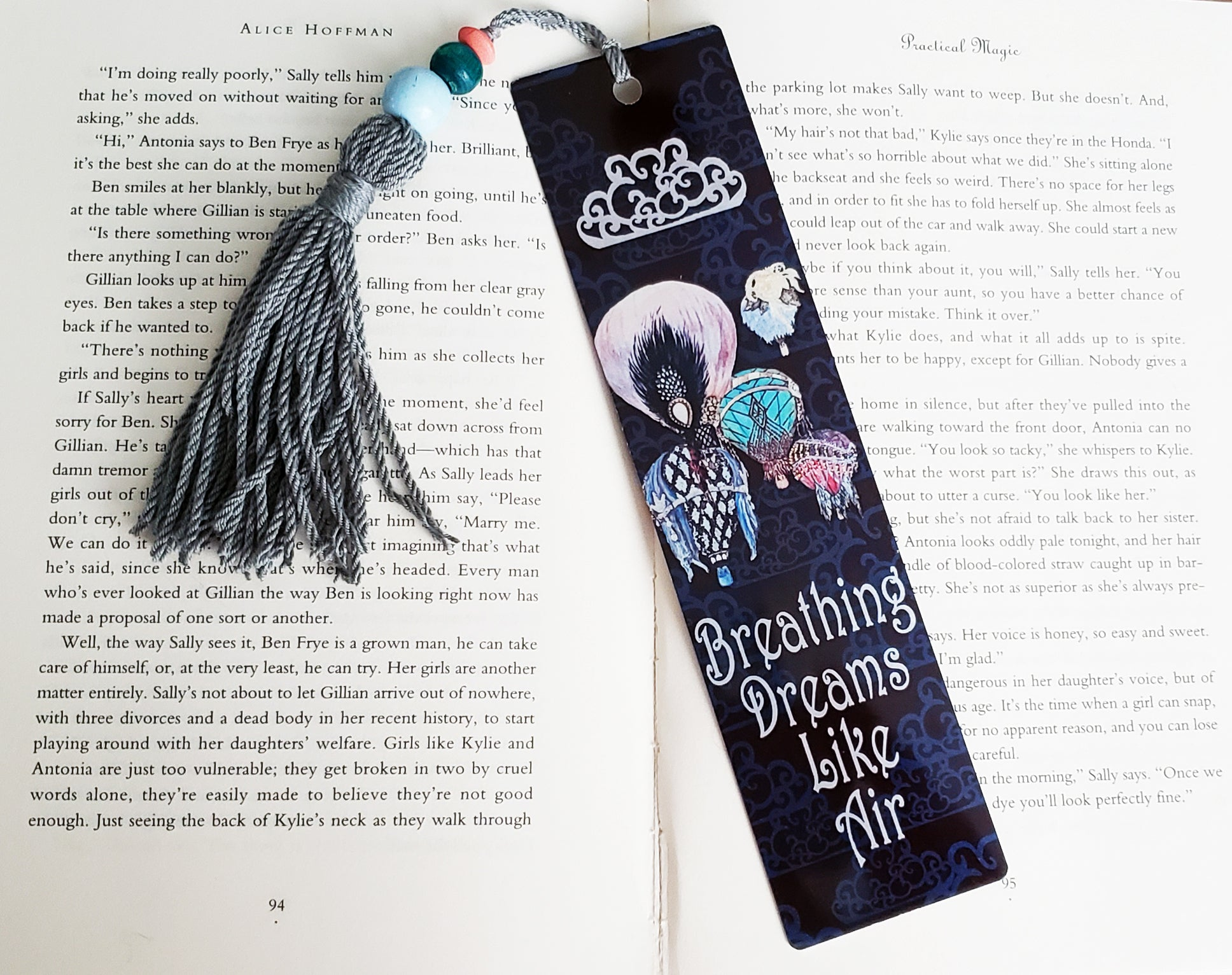 Great Gatsby Hot Air Balloons Bookmark