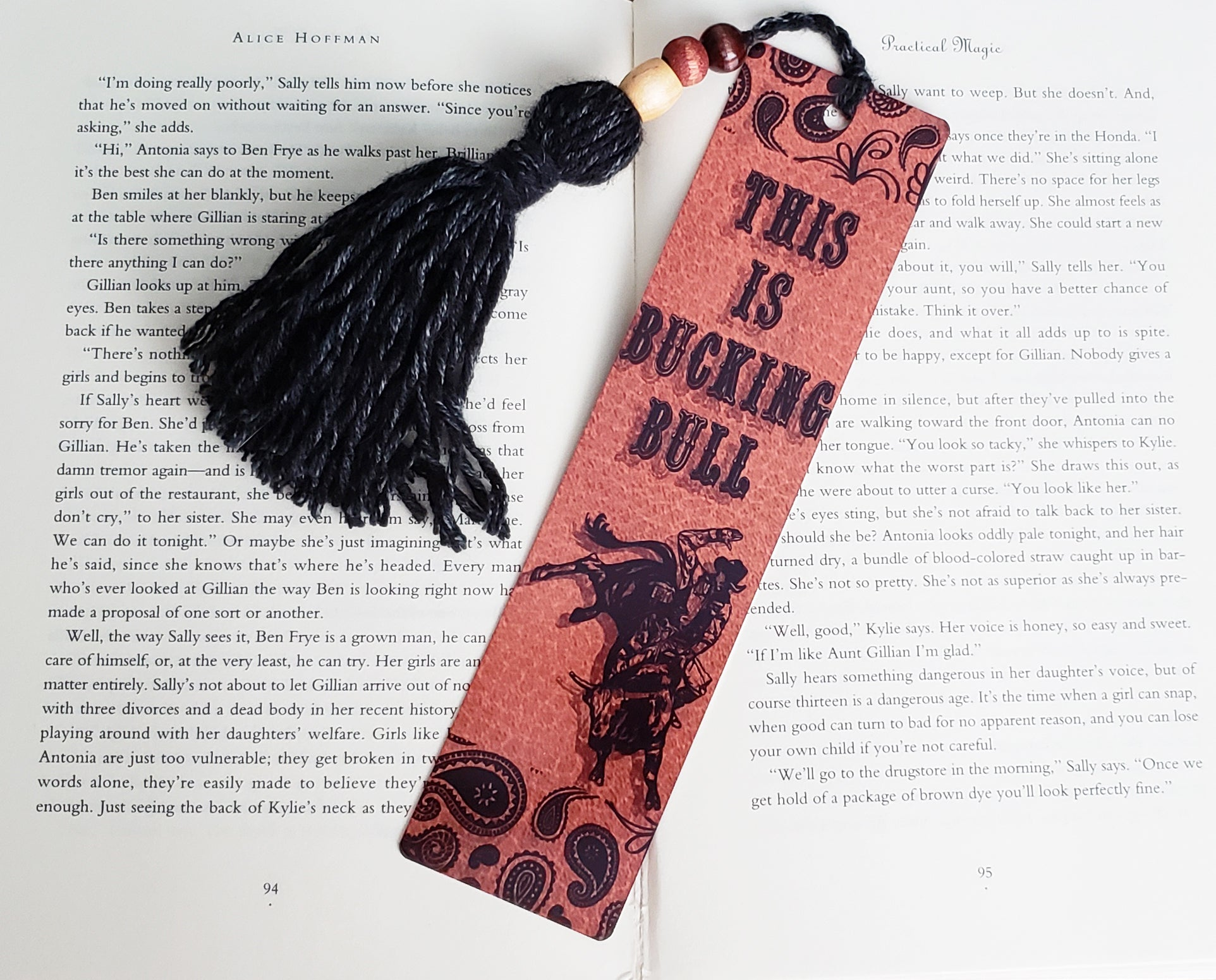 This is Bucking Bull Bookmark