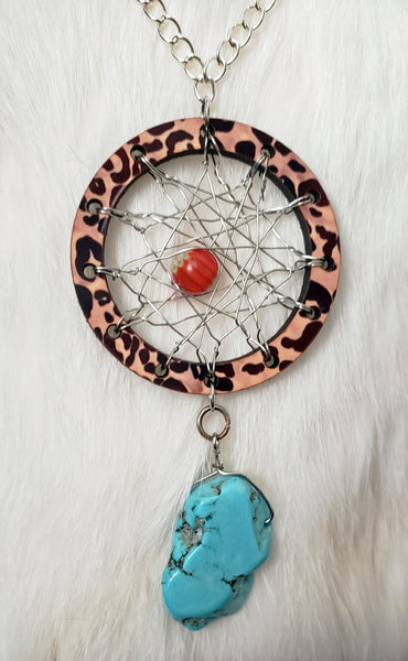 Leopard Dream Catcher Necklace