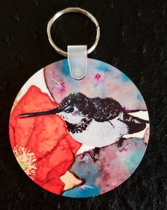 Piper the Hummingbird Round Acrylic Key Chain