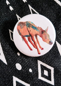 Desert Rain (Donkey/Burro) Button Pin