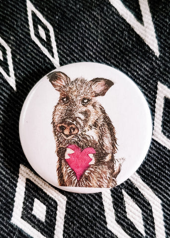 You Javelina My Heart Button Pin