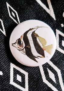 Angelfish Button Pin