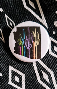 Arizona Palette on Black Button Pin