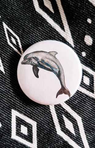 Dolphin Button Pin