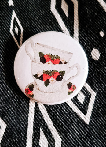 Teacups Button Pin