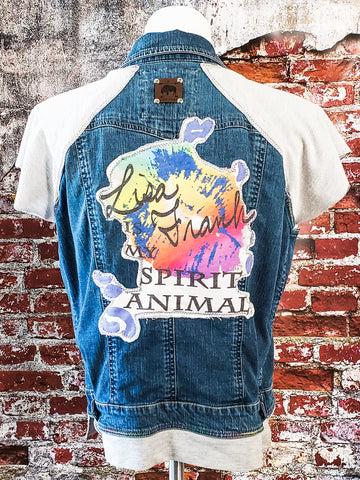 Lisa Frank is my Spirit Animal Jean Vest