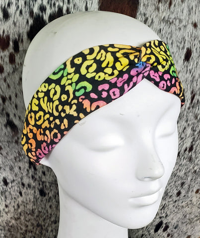 Ode to Lisa Frank Leopard Turban Headband