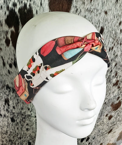 Books and Tea Turban Headband