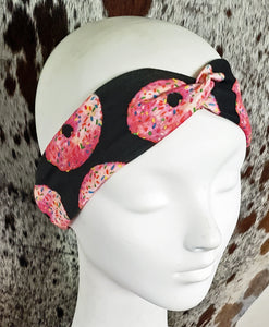 Pink Sprinkled Donut Turban Headband