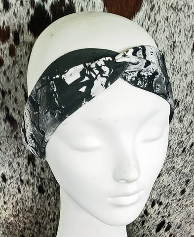 White Buffalo Turquoise Turban Headband